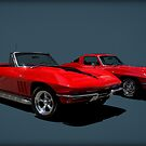 1965 Corvette Convertible and 1964 Corvette Stingray by TeeMack