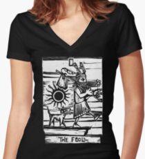 The Fool - Tarot Cards - Major Arcana Women's Fitted V-Neck T-Shirt