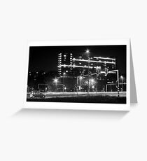 Intersection and cars Greeting Card