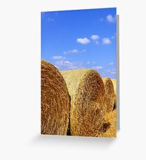 Straw Bales Greeting Card