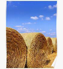 Straw Bales Poster
