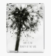love is the beauty of the soul iPad Case/Skin