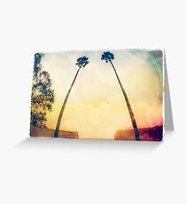 Twin Palms Greeting Card