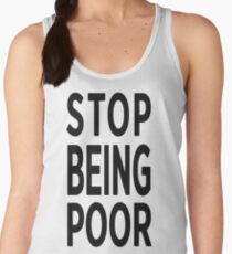 Paris Hilton 'Stop Being Poor' Art Women's Tank Top