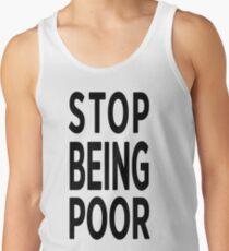 Paris Hilton 'Stop Being Poor' Art Tank Top