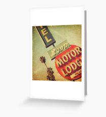 Loop Motel Greeting Card