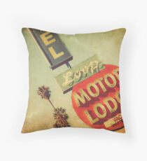 Loop Motel Throw Pillow