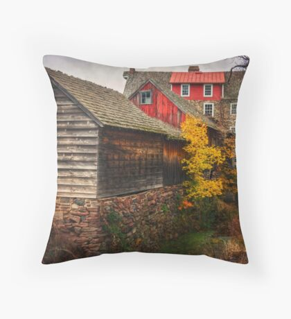 The Stover-Meyer's Mill Throw Pillow