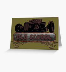 Old School Hot Rod Greeting Card