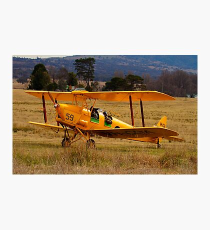 Beauty Comes With  Age, biplane De Havilland Tiger Moth  Canberra Australia Photographic Print