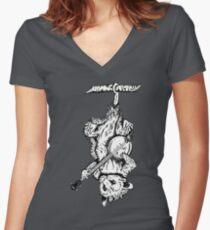 Possum Banjo Women's Fitted V-Neck T-Shirt