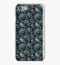 Blue-Gray Pastel Tones Vintage Seamless Paisley Pattern iPhone Case/Skin