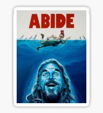 The Big Lebowski Abide Jaws Sticker