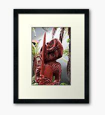 Rotorua Totem Framed Print