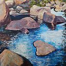 River, Rocks and Reflection by Holly Friesen