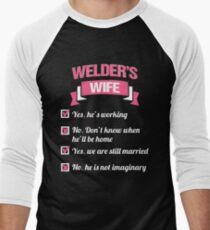 WELDER'S WIFE Men's Baseball ¾ T-Shirt