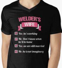 WELDER'S WIFE Men's V-Neck T-Shirt