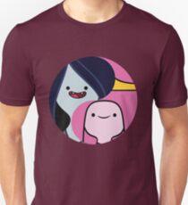 Marceline and Princess Bubblegum yin yang Unisex T-Shirt