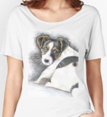 Jack Russell Terrier Puppy  Women's Relaxed Fit T-Shirt