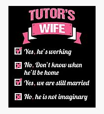 TUTOR'S WIFE Photographic Print
