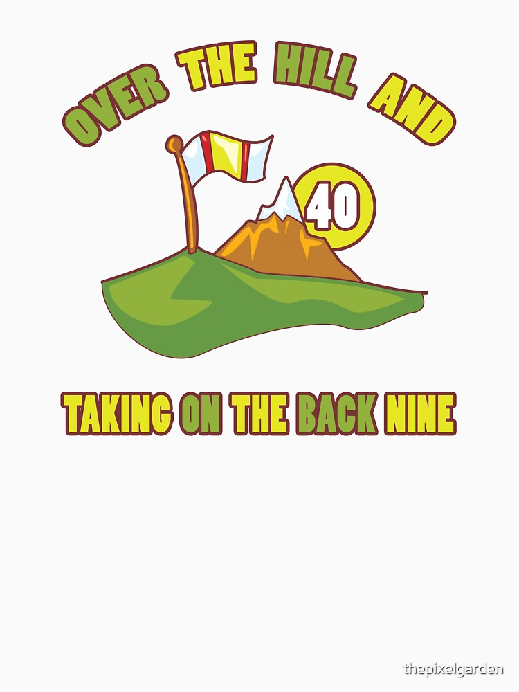 Funny 40th Birthday Golf Gift by thepixelgarden