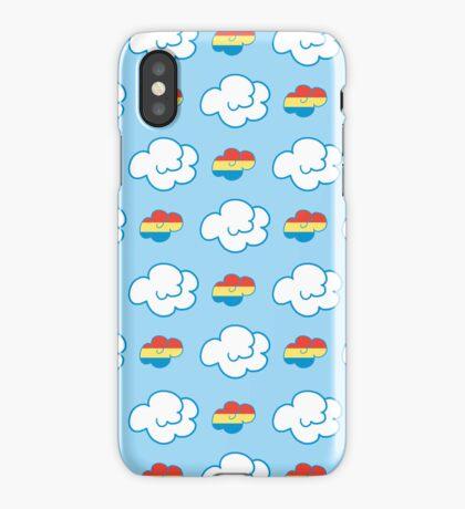 Rainbow Dash Clouds iPhone Case