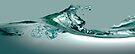 Wave on glass  by Martin Dingli