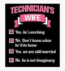 TECHNICIAN'S WIFE Photographic Print