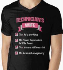 TECHNICIAN'S WIFE Men's V-Neck T-Shirt