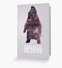 Bears Beets Battlestar Galactica - Poster Greeting Card