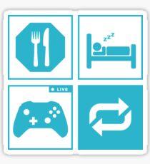 Eat, Sleep, Game, Repeat. Sticker