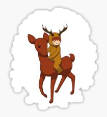 Deer Rider Sticker