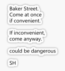 Sherlock Holmes text message (small) Sticker