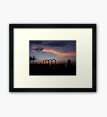 tropical sunset - puesta del sol tropical Framed Print