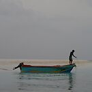Maldives Fisherman by Les Magee