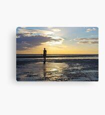 Crosby Beach Iron Man Sunset Canvas Print