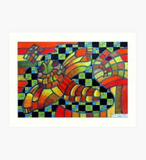 388 - KANDOZZI DESIGN - DAVE EDWARDS - COLOURED PENCILS - 2013 Art Print