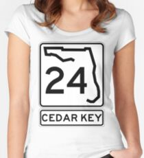 Florida 24 - Cedar Key Women's Fitted Scoop T-Shirt