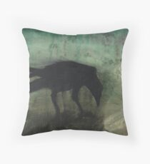 The Black Flag Of Himself Throw Pillow