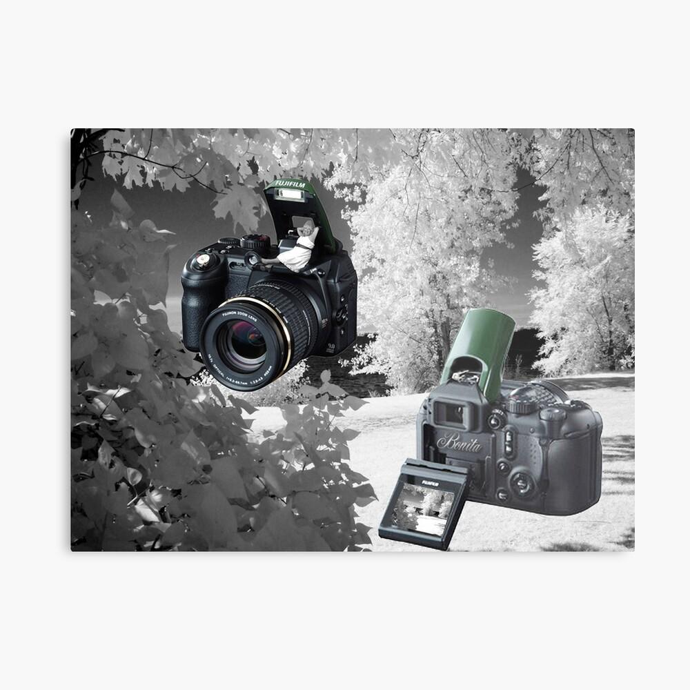 ☀ ツMY FUGIFILM Is-1 INFRARED CAMERA INSIDE,PICTURE TAKEN WITH THE INFRARED CAMERA ☀ ツ Metallbild