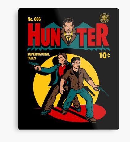Hunter Comic Metal Print