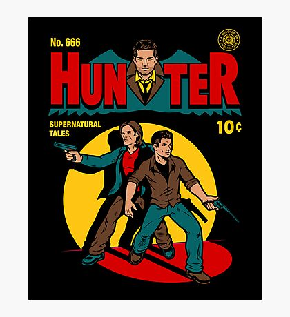 Hunter Comic Photographic Print