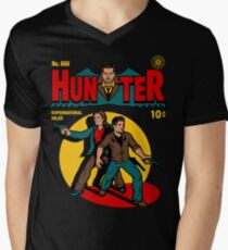 Hunter Comic Men's V-Neck T-Shirt