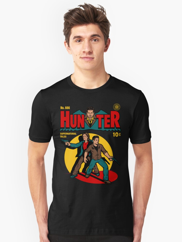 Hunter Comic Unisex T-Shirt Front