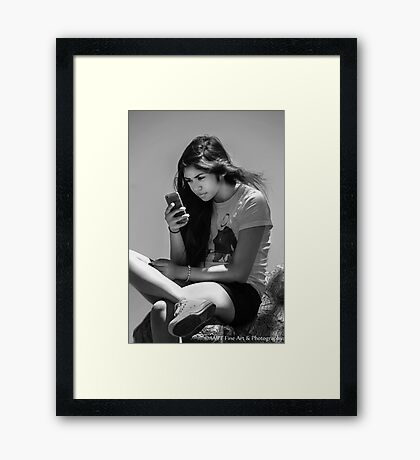 ♫ She's Got The Whole World In Her Hands ♫ Framed Print