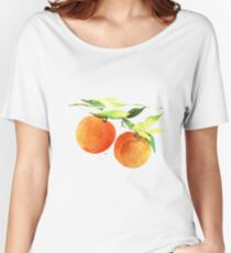 Watercolor oranges Women's Relaxed Fit T-Shirt