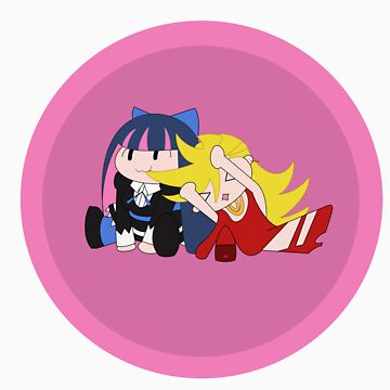 Panty and Stocking Chibis by DJNightmar3