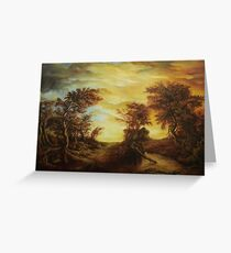 Pictura greeting cards redbubble dan scurtu forest at sunset greeting card m4hsunfo