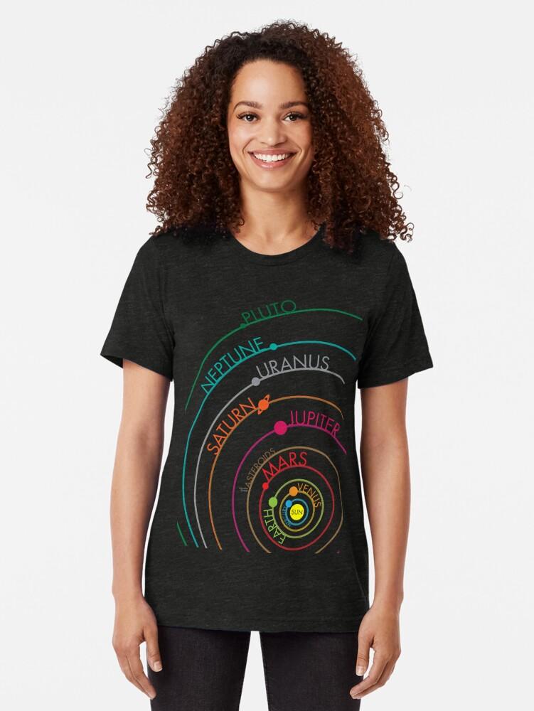 Alternate view of Solar System Tri-blend T-Shirt