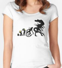 Alien Evolution Women's Fitted Scoop T-Shirt
